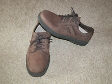 Men's Brown Leather Hush Puppies Lace Up Casual Walking Shoe US 11.5 M