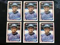 1989 Topps Traded Deion Sanders ROOKIE RC #110T (Lot of 6)