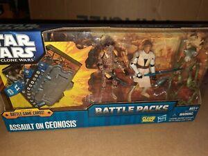 Assault on Geonosis BLUE Battle Packs STAR WARS The Clone Wars MIB Pack