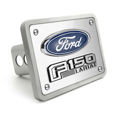 """Ford F-150 Lariat 3D Logo Brushed 3/8"""" thick Billet Aluminum 2"""" Tow Hitch Cover"""