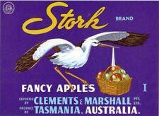 "SALE- Vintage Tasmania Apple Case Labels Fruit Art Poster ""baker's dozen""-P (13)"