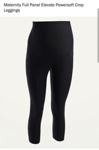 Old Navy Maternity XXL Black Powersoft Crop Leggings Full Panel New With Tags