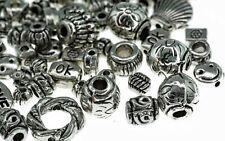 50 Stücke Kreuz Oval Spacer Perlen Dekoperlen Schmuckperlen Bastelperlen für