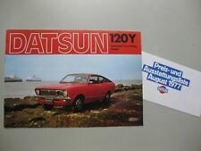 Datsun Nissan 120Y brochure Prospekt German text Deutsch 8 pages 1977