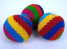 Set of 3 Spiral Hacky Sacks Hand Made in Guatemala Juggling Balls Footbag Magic