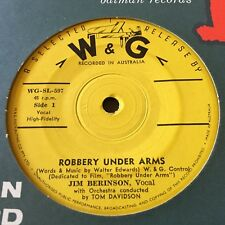 "JIM BERINSON....ROBBERY UNDER ARMS (Soundtrack) - - Rare 1958 Australian W&G 7"""