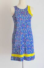 Vintage 90's Versus Gianni Multi Fluro Fleck Print Dress Yellow Band Size 8/10