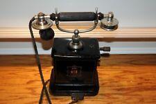 Antique Danish JYDSK Telefon Aktieselskab Desktop Hand Crank Telephone Phone Old