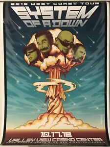 """System Of A Down """"2018 west Coast Tour Poster"""