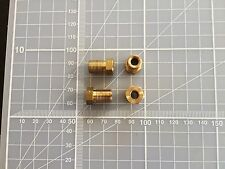 M10 x 1 short male Tube union nut fitting brake pipe hardline in BRASS x 4off