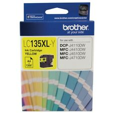 Brother Genuine LC-135XLY YELLOW Ink For J4110DW J4410DW J4510DW - 1,200 Pages