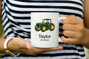 Personalised Name Coffee mug with Tractor, Tractor Gift