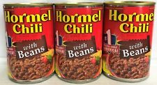 Hormel Chili with Beans 15 oz can ( 3 cans )