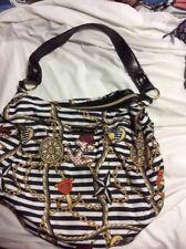 betsey johnson black and white purse