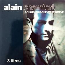 """Alain Chamfort Maxi CD 3"""" Souris Puisque C'est Grave - France (VG/VG)"""
