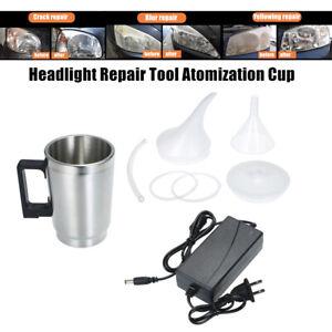 Headlight Len Polish Repair Tool Restoration Car Cup Atomization Restore 12V 60W
