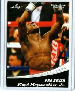 """""""RARE"""" 2020 LEAF FLOYD MAYWEATHER JR. """"EXCLUSIVE  EDITION"""" BOXING CARD #EX-04!"""