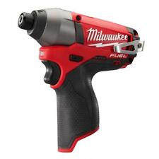 "New Milwaukee Brushless  M12 FUEL12V 2453-20  1/4"" Cordless Impact Driver"