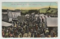 """[27584] 1911 POSTCARD """"ON THE MIDWAY at the FAIR"""", DANBURY, CONN."""