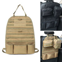Car Seat Back Organizer Tactical MOLLE Pouch Panel Vehicle Cover Protector Bags