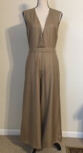 NEW JCREW 100% Cashmere Jumpsuit Size6 In Light Camel VERY RARE