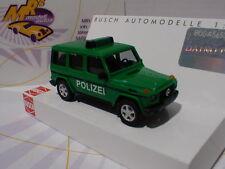 """Busch 51410 # Mercedes-Benz G-Klasse """" Polizei """" Baujahr 1990 in """" grün """" 1:87"""