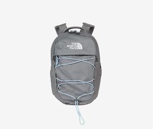 The North Face Borealis Mini Backpack in Zinc Grey Dark Heather/Powder Blue