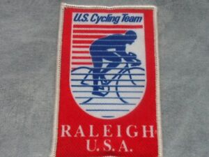 U.S. CYCLING TEAM RALEIGH CLOTH SEW ON EMBROIDERED BADGE
