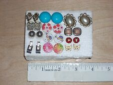 Lot 12 Young & Mature Ladies Post Stud Earrings Various Materials Sizes Shapes