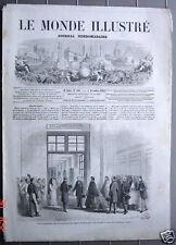 Le Monde illustré Nov 1865 Funéraille de Lord Palmerson