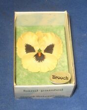 Vintage Hand Made in Wales Pansy Broach