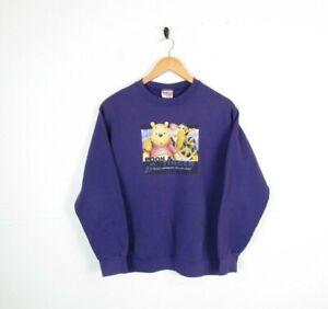 Vintage Disney Winnie The Pooh and Tigger Purple printed 90s Jumper Size S