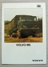 More details for volvo m6 4x4 military vehicle sales brochure 1988 #06/88