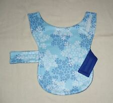 SNOWFLAKES ON LIGHT BLUE FLEECE WHIPPET & 35-40 LB DOG COAT