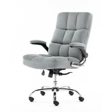 ALEKO Ergonomic Adjustable Upholstered Fabric Luxury Office Chair Gray