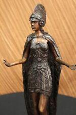 Militär Soldat Spartan Gladiator Spear Shield Bronze Marmor Statue Kunst Dekor