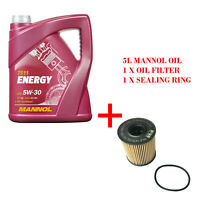 MANNOL 5L 5W-30 ENGINE OIL, OIL FILTER WITH SEALING RING SERVICE KIT