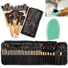 32pcs Pro Soft Cosmetic Eyebrow Shadow Makeup Brush Set Kit + Pouch Bag #EB99