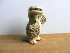 Klima Owl In Hat And Tie Miniature Animal Figurine Bird Support Wildlife Rehab