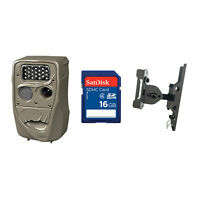 Cuddeback 20MP Black Flash Trail Camera + 16GB SD Card + Game Camera Mount