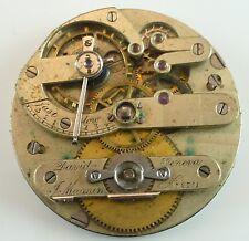 David Magnin Geneva Complete Running Pocket Watch Movement  -  Parts / Repair!