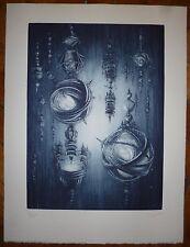 Clayette Pierre Gravure originale signée numérotée art fantastique planète