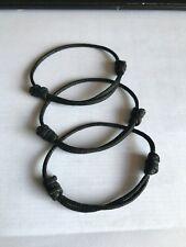 Adjustable Size (3 units) Unisex Nylon Braided Bracelet
