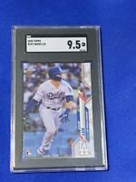 2020 Topps Gavin Lux Los Angeles Dodgers #292 SGC 9.5 GEM MINT Rookie Hitting