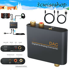 192kHz DAC Digital zu Analog Audio Konverter Wandler Toslink Koaxial zu RCA R/L