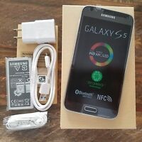 New Samsung Galaxy S5 SM-G900A 16GB STRAIGHT TALK Black AT&T Tower Smartphone