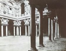 Palazzo Marino Courtyard, Milan, Italy, Magic Lantern Glass Slide
