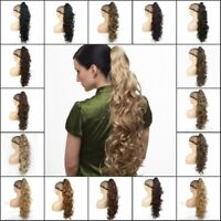 Ponytail Clip-on Super Long Curly ponytail Extensions hair Hairpiece 30 inch