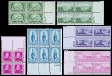United States Plate Blocks Scott 987-997 (1950) Mint NH VF, CV $12.10 W