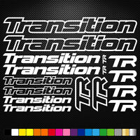 Transition Vinyl Decals Stickers Sheet Bike Frame Cycle Cycling Bicycle Mtb Road